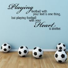 Playing Football with the Heart Boys / Girls Sport ~ Wall sticker / decals